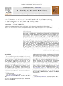 The usefulness of inaccurate models: Towards an understanding of the emergence of financia