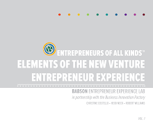 Entrepreneurs Of All Kinds Elements Of The New Venture Entrepreneur Experience