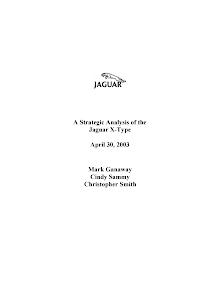 A Strategic Analysis of the  Jaguar X-Type