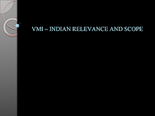Vendor Managed Inventory- Indian Relevance