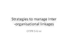 Strategies to manage Inter-organisational linkages