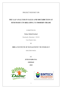 Project Report on The Gap Analysis in Sales and Distribution of Fem Products Relating to M