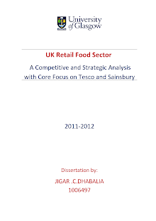 A Competitive and Strategic Analysis with Core Focus on Tesco and Sainsbury