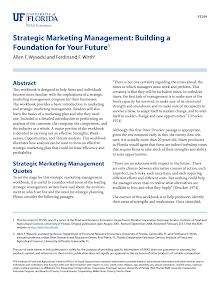 Study on Strategic Marketing Management