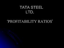 Tata Steel Profitability Ratios