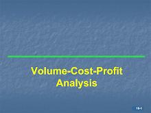 Volume Cost Profit Analysis (Examples)
