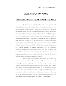 Case Study on AMUL