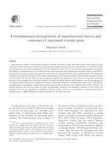 Complementary arrangements of organizational factors and outcomes of negotiated transfer p