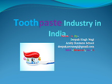 PROJECT ON TOOTHPASTE INDUSTRY IN INDIA