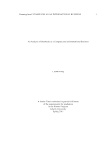 Analysis on International Business of Starbucks