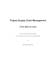 Project Study on Project Supply Chain Management