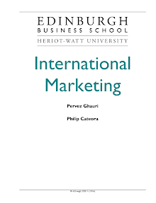 Study on Scope and Challenge of International Marketing