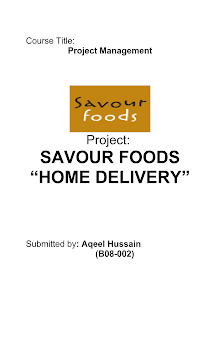 Project Management on Savour Foods