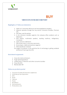 Research Report on Videocon Industries