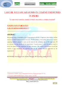 Labour Welfare Measures in Cement Industries in India
