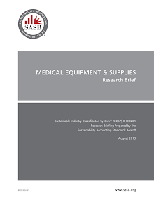 Research Study on Medical Equipment - Supply Chain