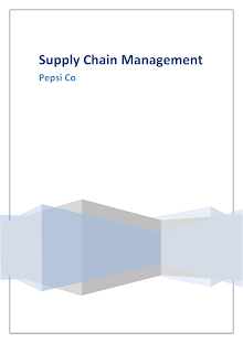 PepsiCo's Supply Chain Management