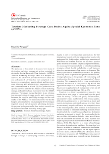 Marketing Study on Tourism Marketing Strategy - Aqaba Special Economic Zone (ASEZA)