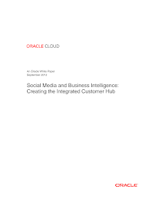 White Paper on Social Media and Business Intelligence