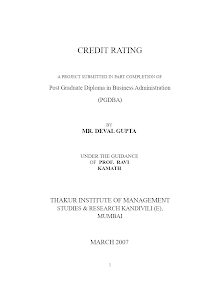 Blackbook project on credit rating system