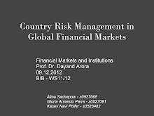 Risk Management in Global Financial Markets