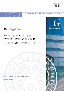 Study on Mobile Marketing Communications in Consumer Markets