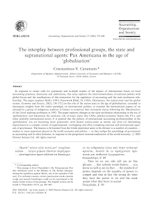 The interplay between professional groups, the state and supranational agents