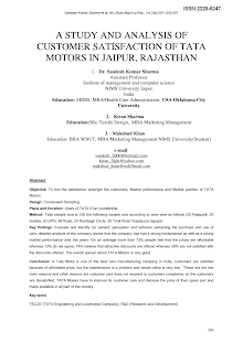 Consumer Behaviour Project on Tata Motors