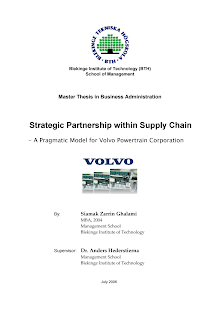 Study on Strategic Partnership within Supply Chain