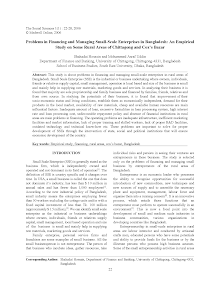 White Paper Study on Problems in Financing and Managing Small-Scale Enterprises
