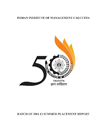 Summer Internship Report of IIM Calcutta