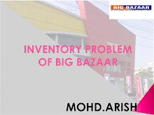 INVENTORY PROBLEMS OF BIG BAZAAR
