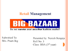 PROJECT ON BIG BAZAAR