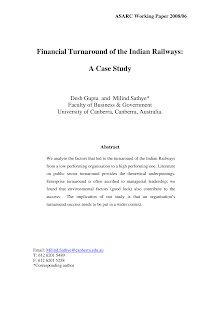 Financial Study on Financial Turnaround of Indian Railways