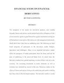 Financial Study On Financial Derivatives