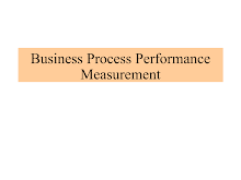 Business Process Performance Measurement