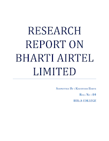 RESEARCH REPORT ON BHARTI AIRTEL LIMITED
