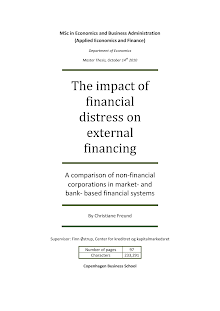 White Paper on Impact of Financial Distress on External Financing