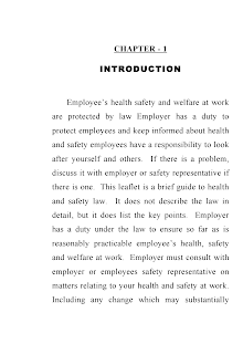 Blackbook project on employee health and safety measures