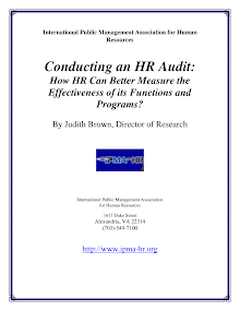 Research Study on HR Audit
