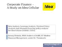 Study on Corporate Financea of Idea Cellular