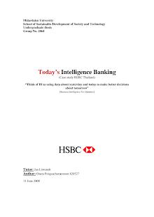 Case studies on HSBC Thailand: Intelligence Banking