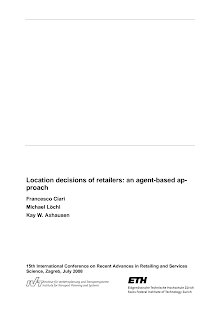 Study on Location decisions of retailers - Agent-Based Approach