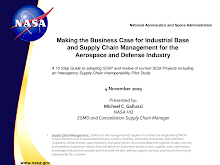 Supply Chain Management for the Aerospace - NASA