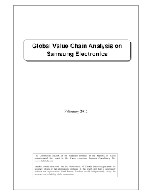 Project Report of Global Value Chain Analysis on Samsung Electronics