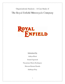 Royal Enfield : Organization Analysis