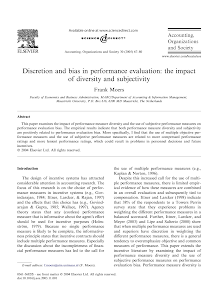 Discretion and bias in performance evaluation: the impact of diversity and subjectivity