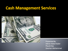 Project Report on Cash Management Services