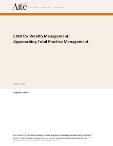 Study Report on CRM for Wealth Management