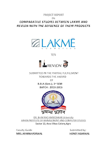 COMPARATIVE STUDY BETWEEN LAKME AND REVLON